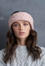 Lemon Basketweave Headband - Pink