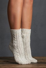 Lemon Tweed Crew Sock - Ivory