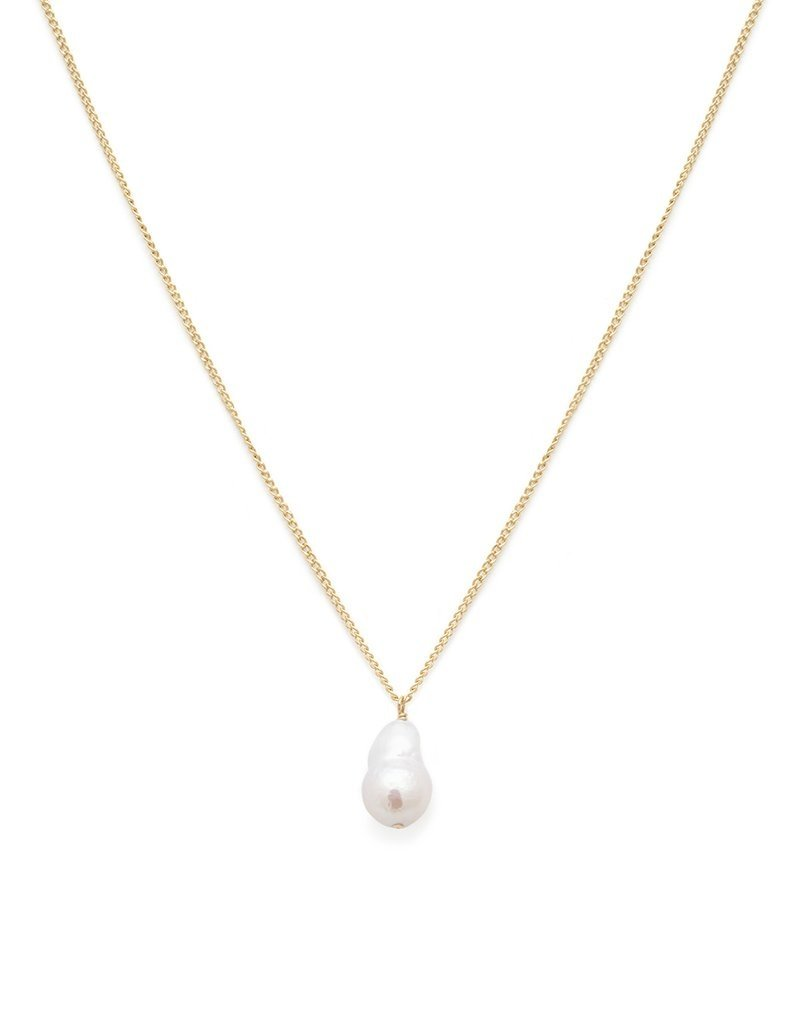 Leah Alexandra Baby Baroque Necklace - Pearl