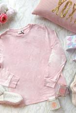 Dress Forum Taylor Tie Dye Long Sleeve Top - Pink