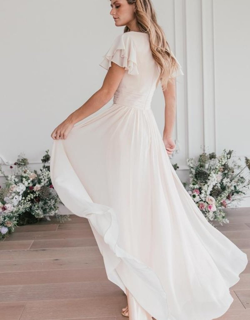 Jessa Kae Endless Love Chiffon Maxi Dress in Ivory