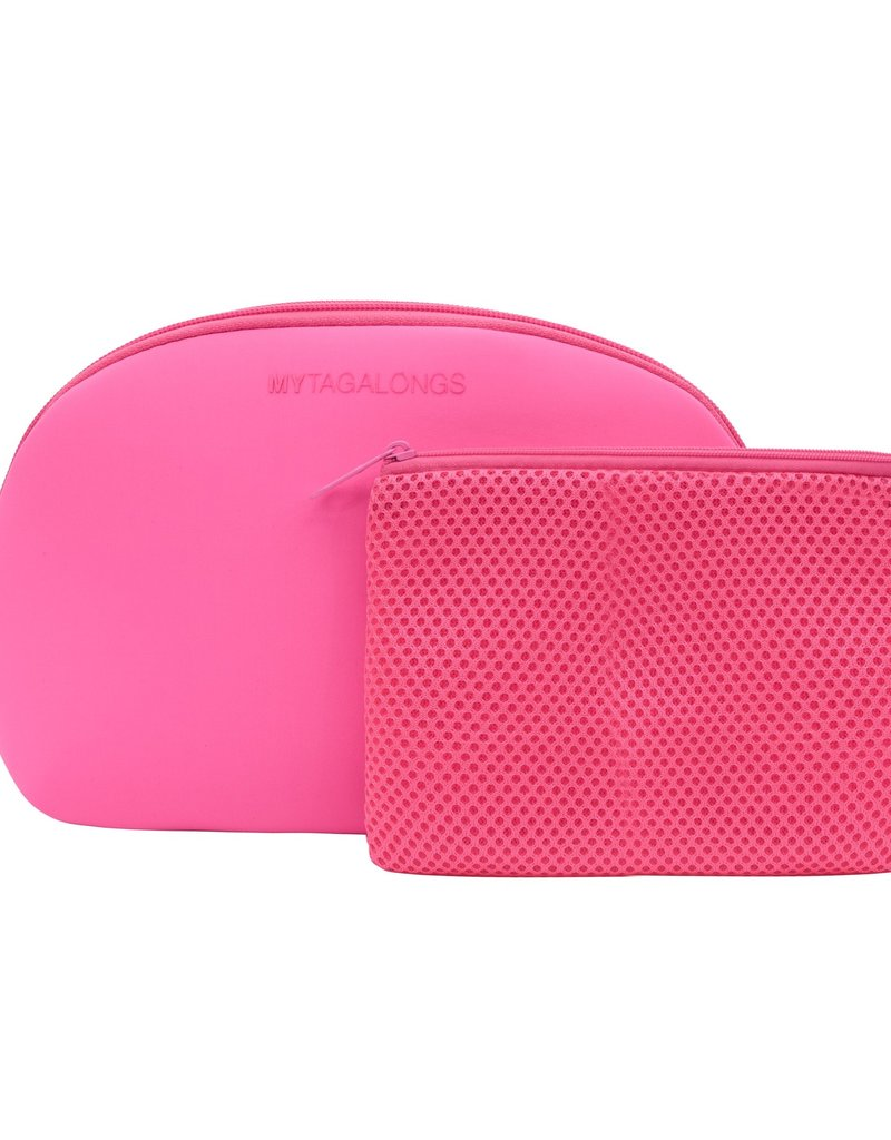 My Tagalongs Dome Cosmetic Case - Neon Pink