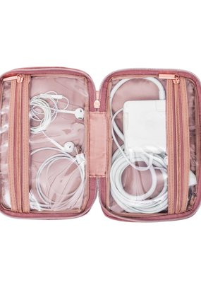 My Tagalongs Klara Tech Organizing Travel Case in Rose Velour