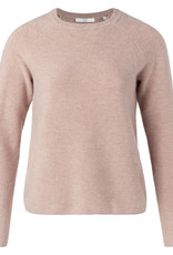 Yaya Mix Ribbed Sweater in Blush Pink