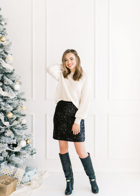 Molly Bracken Lara Sequin Skirt