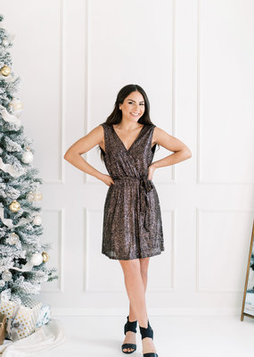 Molly Bracken Molly Copper Sequin Dress