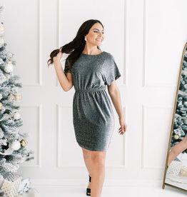 Molly Bracken Rhea Jersey Glitter Dress *Two Colours*