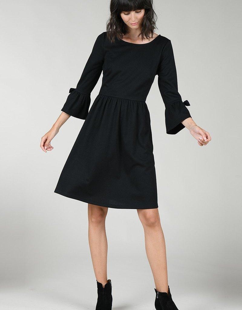 Molly Bracken Tayah Jersey Dress - Black