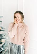 Yaya Brushed Fluffy Sweater in Blush Pink
