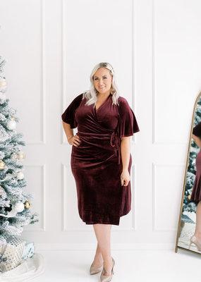 Part Two Fridel Velvet Wrap Dress *Two Colours*