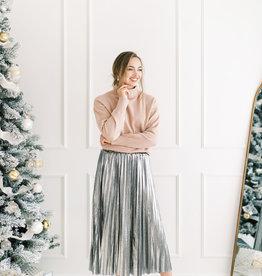 Molly Bracken Genevieve Gunmetal Pleated Skirt