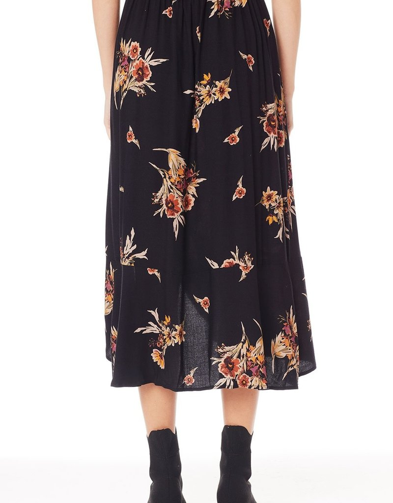 Saltwater Luxe June Midi Skirt in Black
