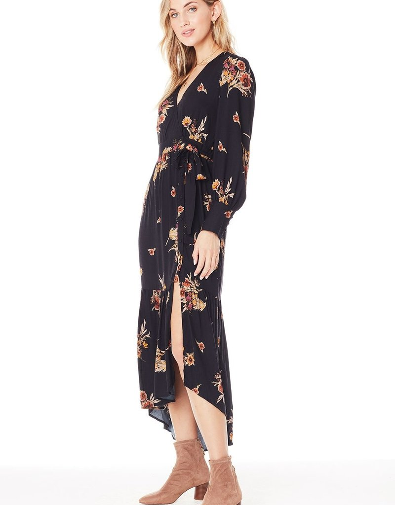 Saltwater Luxe Indy Maxi Dress in Black Floral