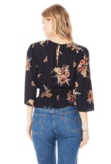 Saltwater Luxe Belle Blouse in Black Floral