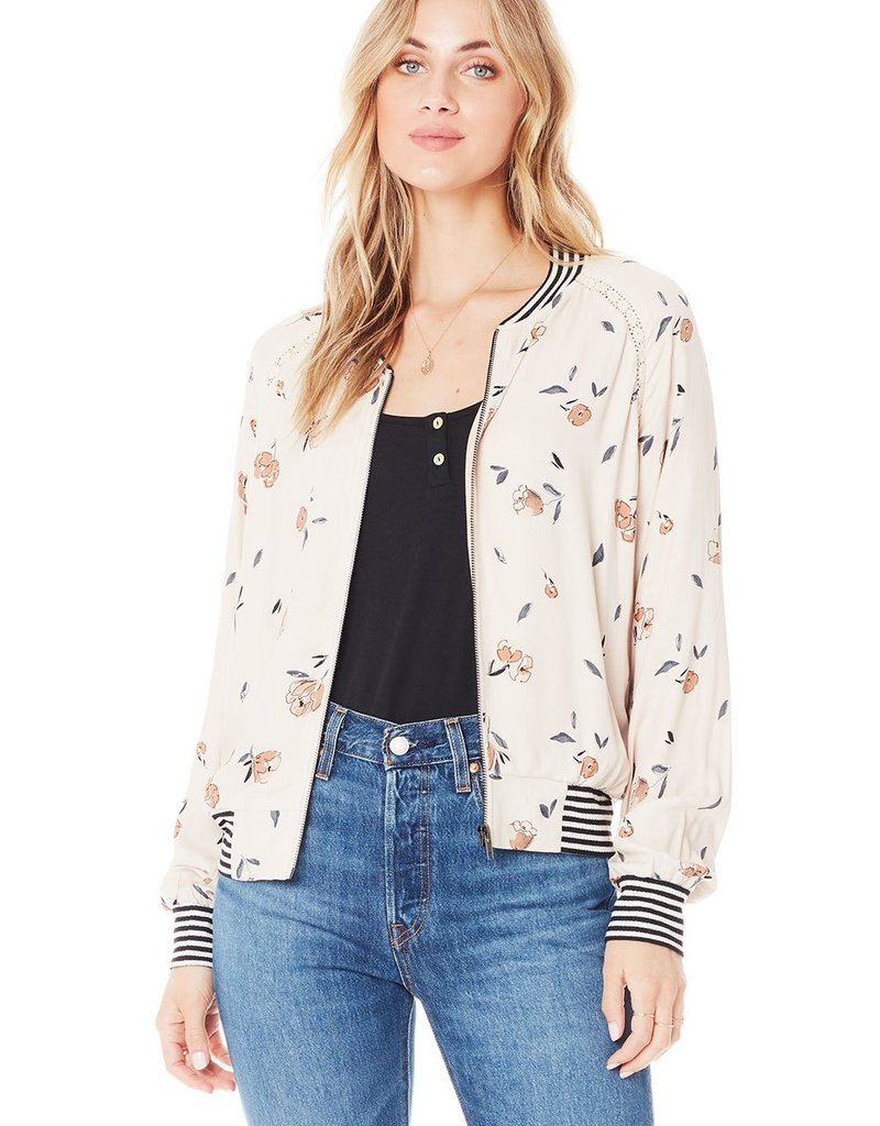 Saltwater Luxe Crossfire Bomber Jacket in Sand
