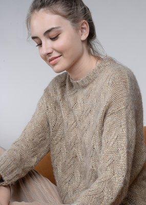 Molly Bracken Taryn Gold Knit Sweater