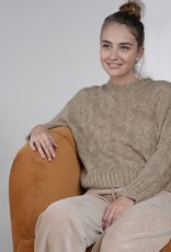 Molly Bracken Taryn Gold Knit Sweater