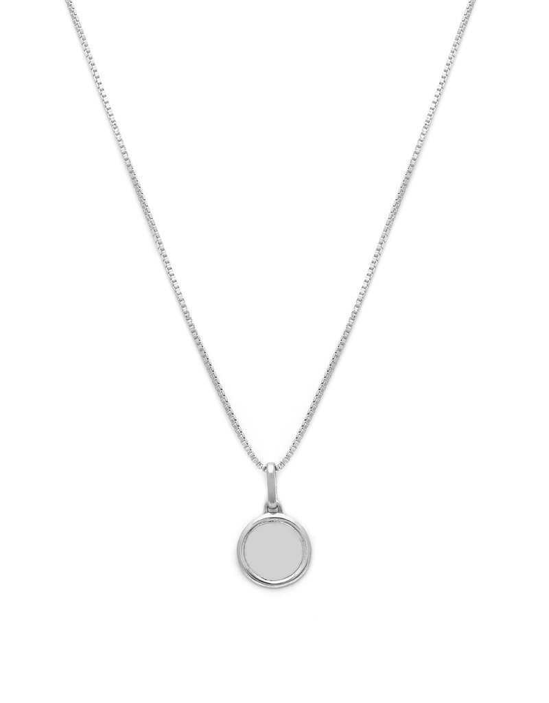 Leah Alexandra Leah Alexandra Circle Love Token Necklace - Silver 18""