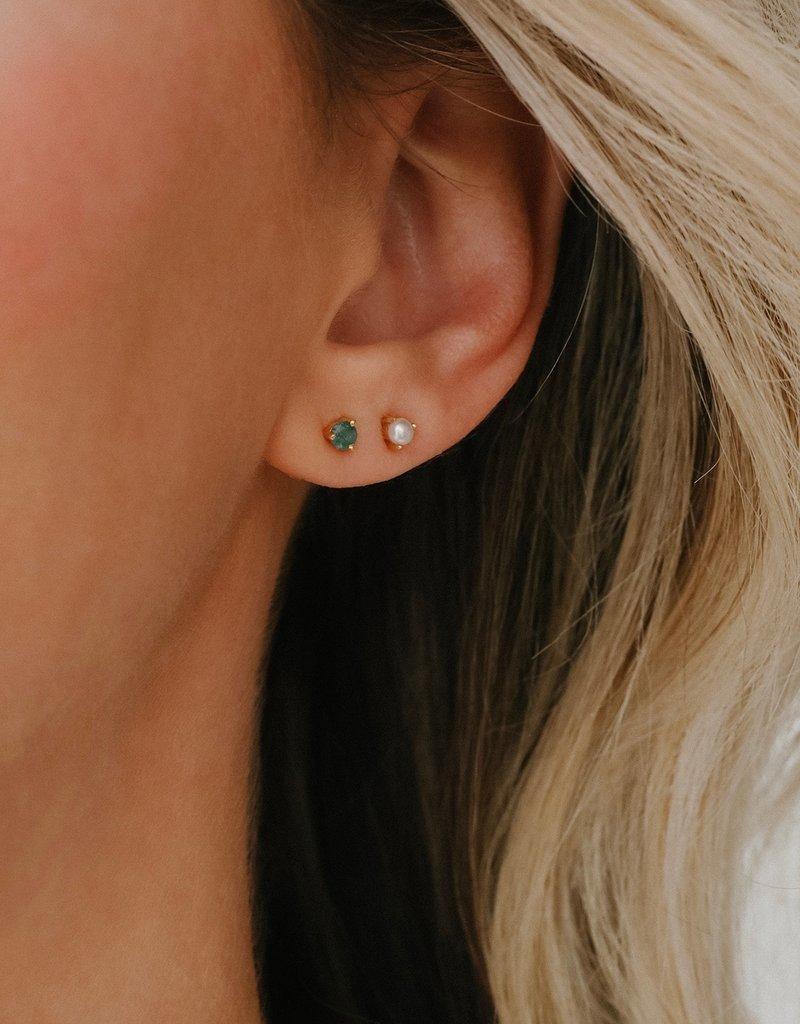 Leah Alexandra Element Pearl Stud Earrings
