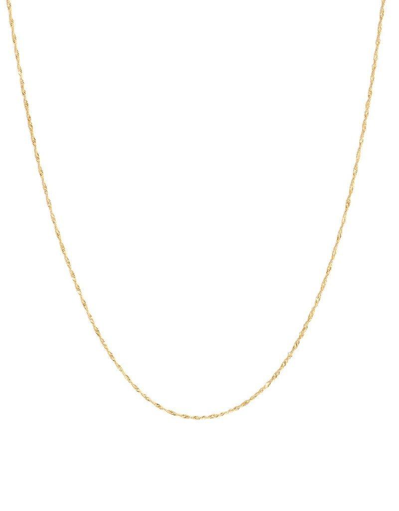 Leah Alexandra Singapore 10k Gold Fine Chain
