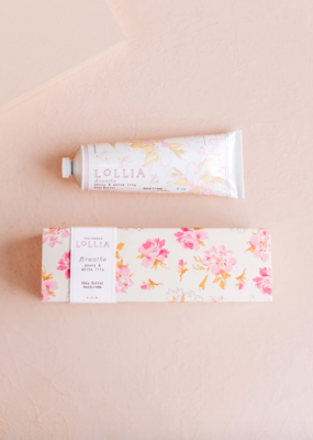 Lollia Lollia Breathe Hand Cream in Peony & White Lily