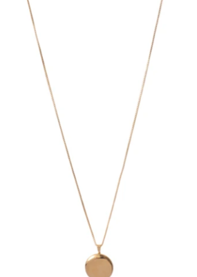 Lisbeth Round Locket Necklace - Gold