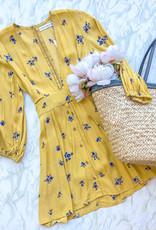 Faithfull Faithfull - Margot Dress in Dolores Floral Yellow