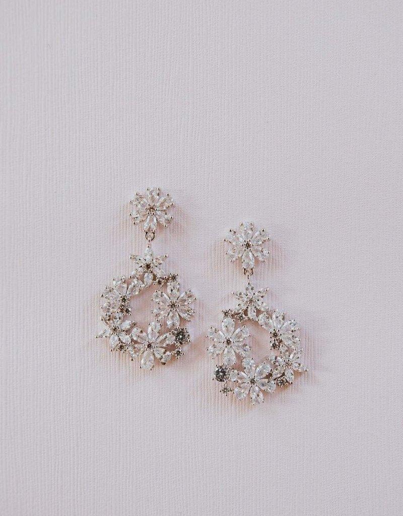 Luna & Stone Laurel Earrings - Silver