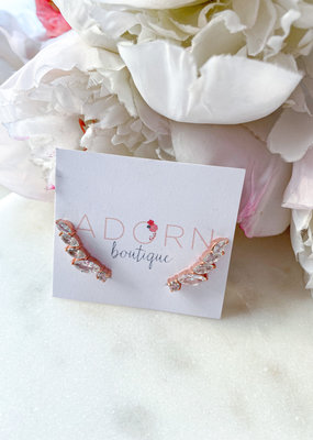 Adorn Collection Jewelry Rose Gold Long Climber Earring