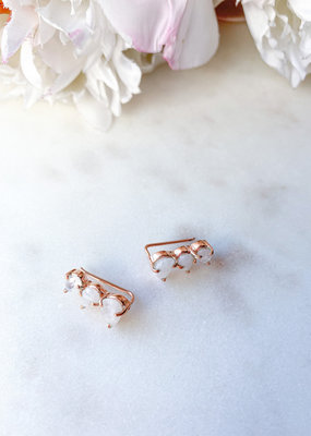 Adorn Collection Jewelry Rose Gold Climber Earring