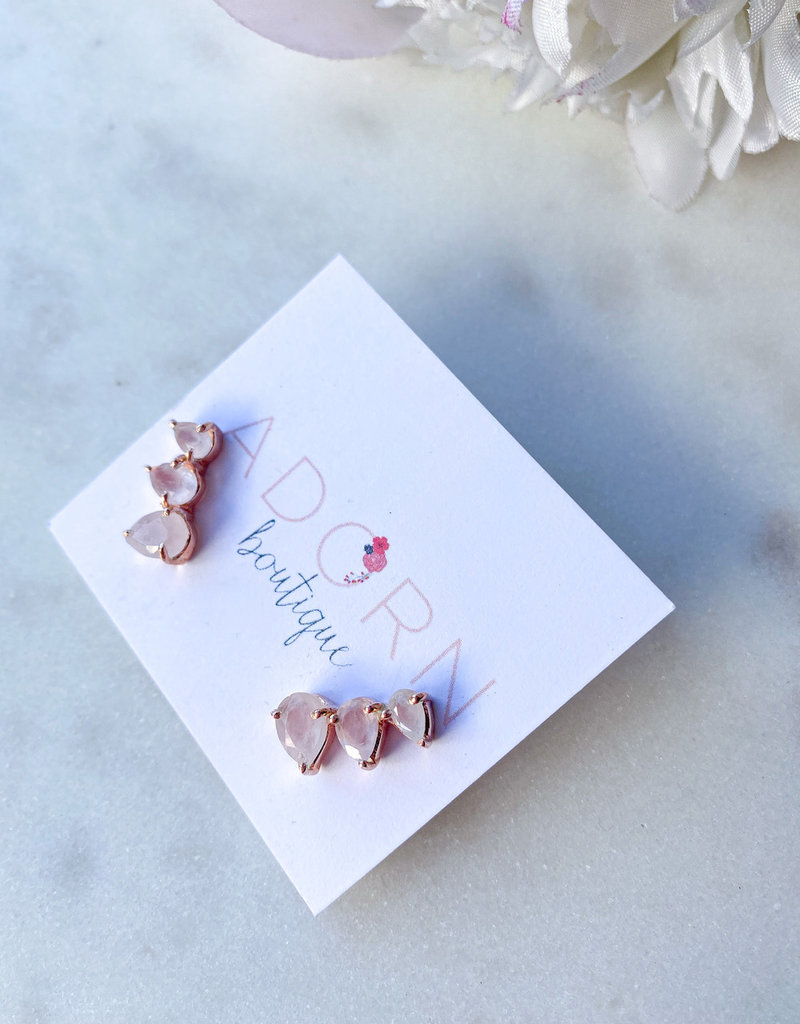 Adorn Collection Jewelry Rose Gold Crawler Earring