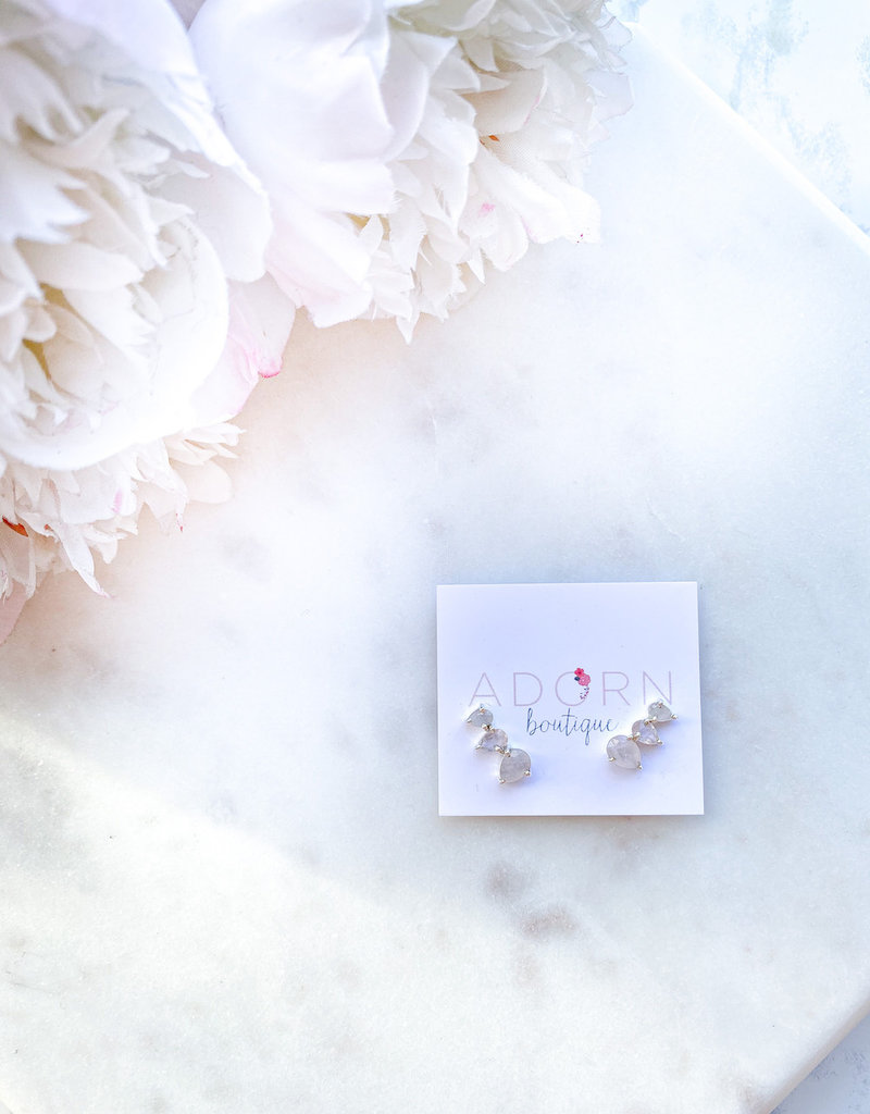 Adorn Collection Jewelry Silver Crawler Earring