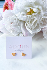 Adorn Collection Jewelry Heart Studs