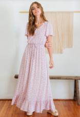 Everly Nathalie Ruffle Hem Maxi Dress