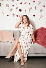 Everly Jolene Ivory Floral Maxi Dress