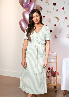 Everly Astrid Button Up Midi Dress
