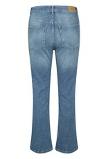 Part Two Ryan Highrise Crop Jean - Light Blue Wash