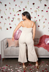 Everly Mariana Tie Front Jumpsuit