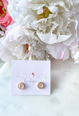 Adorn Collection Jewelry Gold Circle Studs