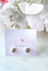 Adorn Collection Jewelry Silver Circle Studs