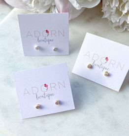 Adorn Collection Jewelry Mini Stud With Crystal Quartz