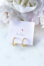 Adorn Collection Jewelry CZ Single Hoops