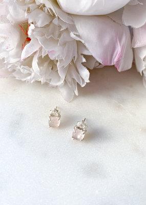 Adorn Collection Jewelry Lennon Rose Quartz Studs
