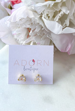 Adorn Collection Jewelry Gold Triangle Studs