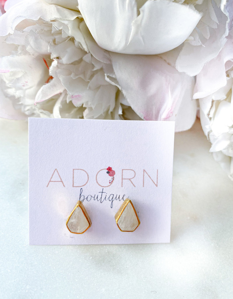 Adorn Collection Jewelry Gold Diamond Shaped Studs