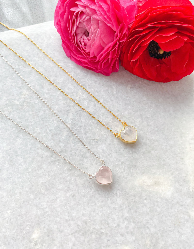 """Adorn Collection Jewelry Kiri Heart Necklace in Gold - 16""""+2"""" Extension"""