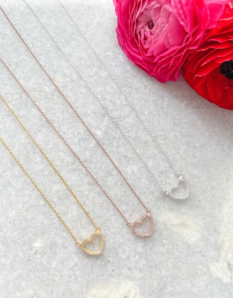 Adorn Collection Jewelry Linnea Heart Necklace