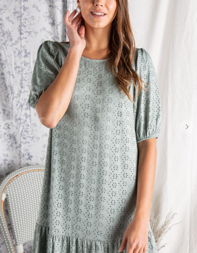 Polagram Fiora Dress with Puff Sleeve