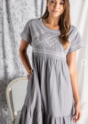 Polagram Felicity Embroidered Dress