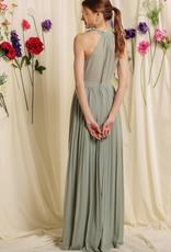 Soieblu Lana Maxi Dress - Dusty Sage